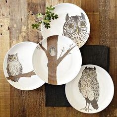 owl plates. west elm.