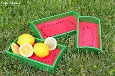 DIY Serving Tray: Watermelon Trays EASY Full Tutorial!