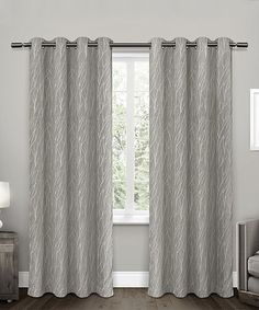 Love this Ash Gray Forest Hill Room-Darkening Curtain Panel - Set of Two on #zulily! #zulilyfinds