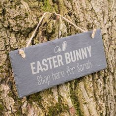 Engraved hanging slate sign easter egg hunt gettingpersonal see all our baby gifts including our engraved personalised baby gifts negle Gallery