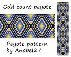 Pattern made with size 11/0 Miyuki Delica seed beads Approx width: 1.64 (31 columns) Approx length: 7.37 Technique: Odd Count Peyote Colors: 5   Pattern includes: - Large colored numbered graph paper - Bead legend (numbers and names of delica beads colors ) - Word chart - Pattern preview  PLEASE NOTE: !!! PATTERN DOES NOT CONTAIN ANY INSTRUCTIONS OR MATERIALS !!!  1 PDF file: (Instant download, link is available once your payment is confirmed)  This pattern is for personal use only. Do n...