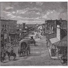 When the West was Really Wild (Wichita Kansas) 1874 American History Canvas Art - x Train Pictures, Old Pictures, Kansas Usa, Kansas City, Old West Town, Dodge City, Land Of Oz, Overland Park, Historical Pictures