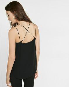 strappy crisscross cami