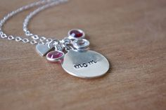 Personalized Mom Necklace by SarahOfSweden