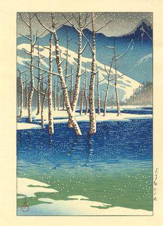 Hasui, Kawase (1883-1957) - Taisho Pond, Kamikochi Tableland - 上高地渓谷