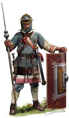 """Legionario Romano,época de Septimio Severo. Desperta Ferro Antigua y Medieval Nº 35 """"Septimio Severo. Pablo Outeiral"""