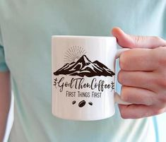 God Then Coffee - First Things First - Coffee Mug - God Then Coffee