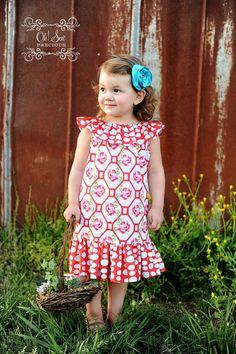 Ruffle Neck Dress/Top Newborn - 12 years PDF Pattern