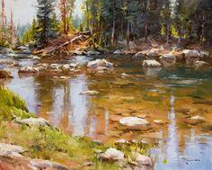Mitch Baird, Beartooth River, oil, 24 x 30.