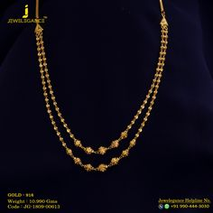 Gold 916 Premium Design Get in touch with us on Gold Mangalsutra Designs, Gold Earrings Designs, Necklace Designs, Gold Necklace Simple, Gold Jewelry Simple, Gold Chain Design, Gold Jewellery Design, Fancy, Bangles