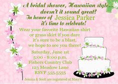 Hawaiian Wedding Shower Invitation