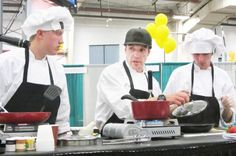 Sturgis Brown High School students & chef mentor compete in the Food Service of America Rising Star ProStart Iron Chef challenge.