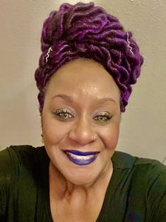 Faux Loc Updo Violet Hair Colors, Shades Of Violet, Loc Updo, Goddess Locs, Purple Reign, Faux Locs, Updos, Pie, Classy
