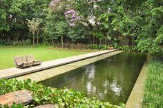 Piscina ecológica no Brasil - Casa Yucatán isay weinfeld