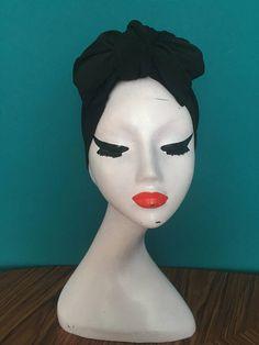 Black turban bow / headwrap
