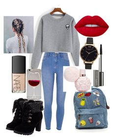 """""""Evie-Mowbray's outfit xx"""" by matildahiner on Polyvore featuring River Island, NARS Cosmetics, MAC Cosmetics, Lime Crime and Olivia Burton"""