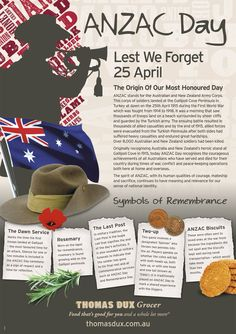 ANZAC DAY is a special day of remembrance in Australia and New Zealand for those who fought for our freedom.