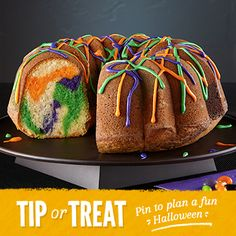 Halloween Swirl Cake Recipe from Land O'Lakes