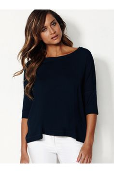 Sweater top - MELA PURDIE - Brands  Mela Purdie classic loose comfortable round neckline 3/4 length sleeve top.  https://www.ignazia.com.au/