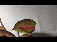 Pintura En Tela Nochebuenas Blancas # 2 Con Cony - YouTube