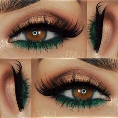 Emerald Green smoky eye