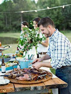 Chopped Collard and Kale Salad with Lemon-Garlic Dressing Recipe - Tasia Malakasis Summer Dinner Party Menu - Country Living