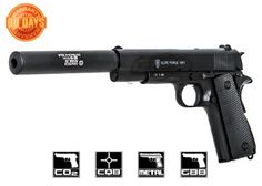 Elite Force Full Metal Blowback Pistol Airsoft Gun by: Paintball Field, Paintball Guns, Edc Tactical, Tactical Equipment, Rifles, Airsoft Gear, Air Rifle, Guns And Ammo, Shotgun