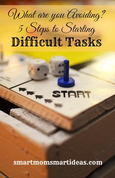 Do you avoid difficult tasks?  Or things you just don't enjoy?  Sometimes we just have to get some things done.  Follow these 5 steps to get your difficult tasks done today.
