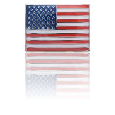 4b5a0b01c626 USA Flag Star Spangled Banner Red White Blue Simply Metal Lapel Pin -  AEPPP008 -