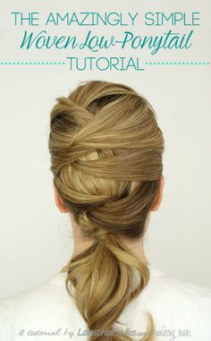woven low ponytail tutorial Woven Low Ponytail with Latest Hairstyles.com