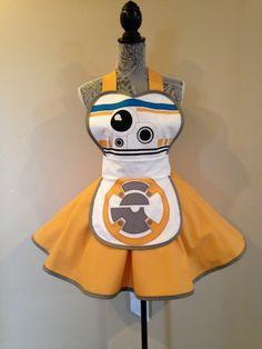 BB-8 - BB 8 Droid - Star Wars Droid - BB-8 Costume - Star Wars Costume - Retro Apron - Aprons by AriaApparel on Etsy https://www.etsy.com/listing/254500936/bb-8-bb-8-droid-star-wars-droid-bb-8
