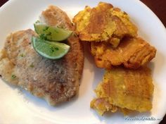 Tilapia frita con patacones #RecetasFáciles #RecetasdeCocina #RecetasconPescado #Tilapia #PescadoFrito