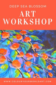 """Learn to Paint, Anyone Can. Join us in Somerville, VIC, for this fun mini workshop, Sat January In 3 short hours you will paint your very own """"Deep Sea Blossom"""" Learn To Paint, Deep Sea, Step By Step Instructions, Have Fun, January, Workshop, Join, Learning, Creative"""