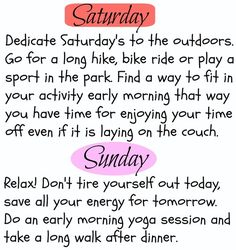Fun Weekly Workout Routine