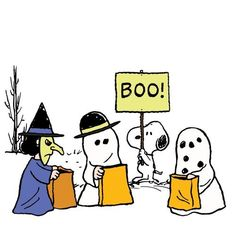 """Happy Halloween from the """"Peanuts"""" gallery! Charlie Brown Halloween, Great Pumpkin Charlie Brown, Peanuts Halloween, Charlie Brown And Snoopy, Halloween Boo, Vintage Halloween, Happy Halloween, Diy Halloween Costumes For Kids, Halloween Quotes"""
