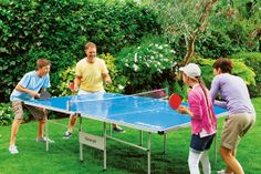 #ArgosGardenParty Full sized table tennis table from Slazenger complete with storage cover, bats and balls. This table can be folded and stored outside all year round so you wont have to find room for it in the house or garage! Get it at #Argos.
