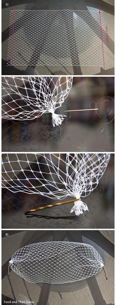 Food and Then Some: Tee-se-itse Birdcage-huntu / DIY Birdcage Veil