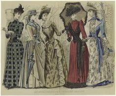 Les modes parisiennes, Peterson's magazine, May 1890. (1890)