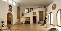 The hallway of Coco Chanel's home, recreated in a Dallas museum.