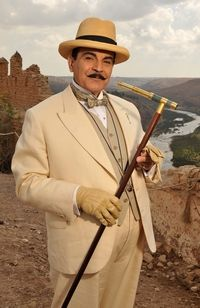 The eccentric Belgian detective, Hercule Poirot.  One of my favorite characters from film and literature