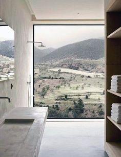 Top 70 Best Shower Window Ideas - Bathroom Natural Light Interior Design Minimalist, Window In Shower, Turbulence Deco, Interior Minimalista, Bathroom Windows, Luz Natural, Natural Light, Window View, Minimalist Bathroom