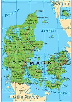 De 8 Bedste Billeder Fra Kort Over Lande I 2019 Danmark Kort Og