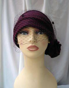 Cloché hat with detachable veil, 20s hat, 20s style hat, 20s fascinator, wedding hat, felt hat, wool hat, winter hat, Vintage style hat by LidiaArtThings on Etsy https://www.etsy.com/listing/261069221/cloche-hat-with-detachable-veil-20s-hat