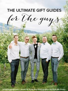The Ultimate Gift Guide for Grooms and Groomsmen