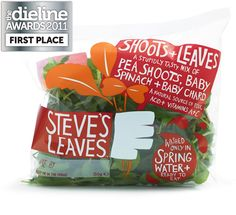 The Dieline Awards 2011: First Place - Steve's Leaves  I love this packaging. Very unique IMPDO.