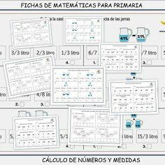 Cálculo de números y medidas. Fichas de matemáticas