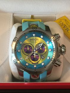 "Invicta Reserve 52mm Venom ""Puppy Edition"" Swiss Quartz Chronograph Polyurethane Strap.  Model: 16952"
