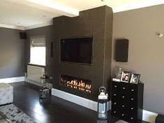 fake chimney breast tv - Google Search Tv Above Fireplace, Chimney Breast, Design, Home Decor, Image, Google Search, Living Room, Kunst, Tv Above Mantle