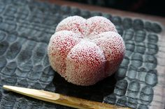 Mid-Winter Wagashi: Kyoto Toraya Red Plum Blossom with Frost Theme Namagashi Confection 京都 とらや 霜紅梅 生菓子
