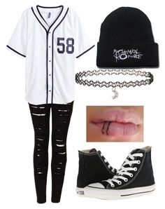 """Untitled #717"" by xxghostlygracexx ❤ liked on Polyvore featuring The Ragged Priest, H&M, Converse and Miss Selfridge"